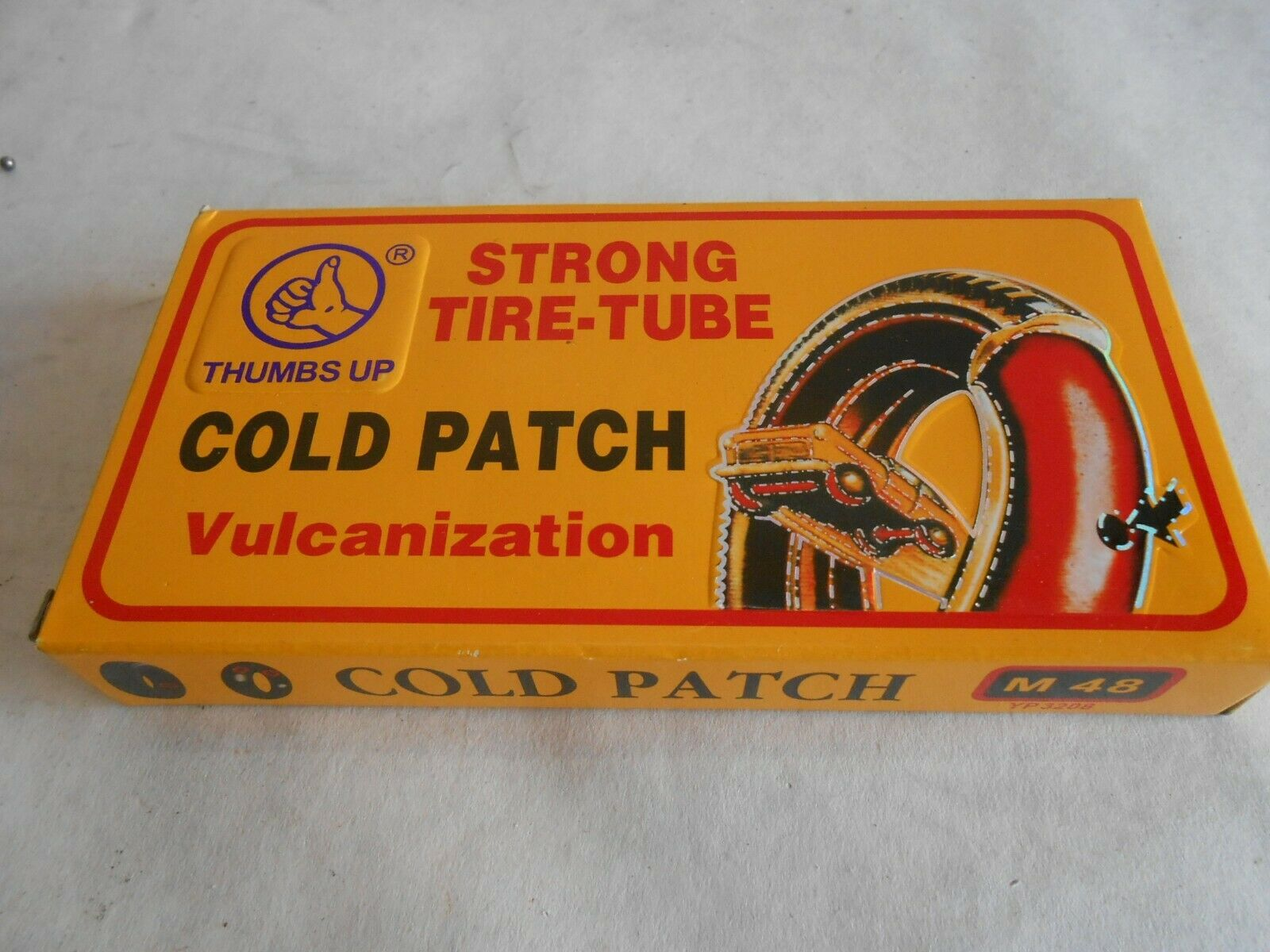 New Motorcycle Bike Off Road Puncture Repair Kit 48 Patches Rubber Cement