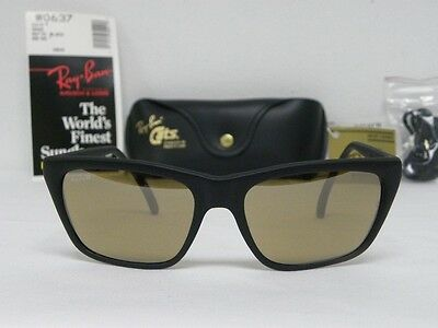 New Vintage B&L Ray Ban Cats 3000 Matte Black RB-50 The General W0637 USA NOS
