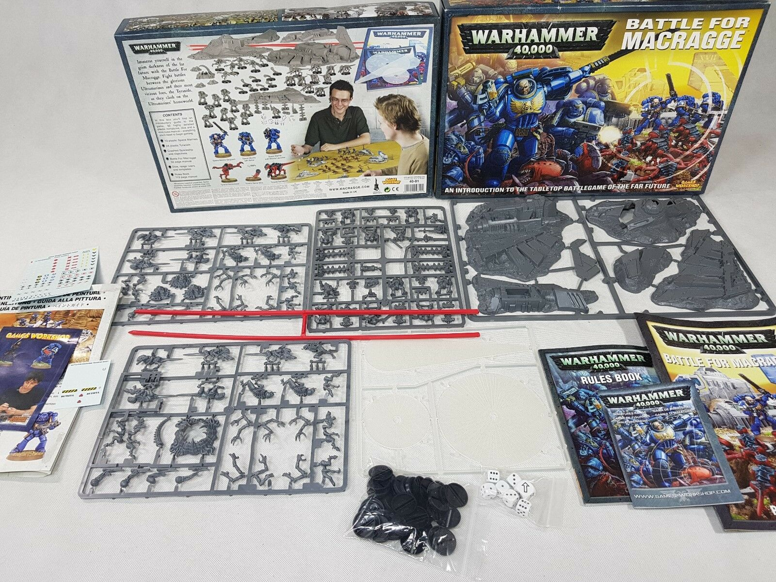 Warhammer 40K BATTLE FOR FOR FOR MACRAGGE 100% complete Board Game on sprues [ENG, 2004] b6b