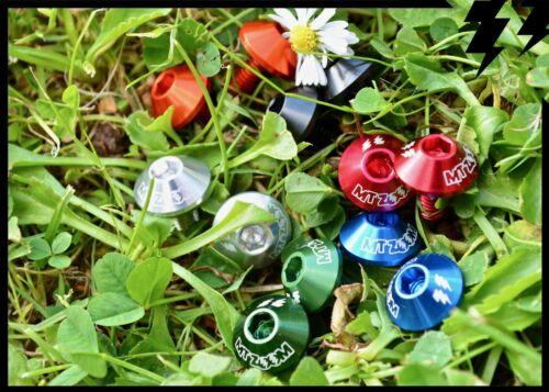 MT ZOOM SHROOM BOTTLE CAGE BOLTS x2 red orange silver black blue racing green
