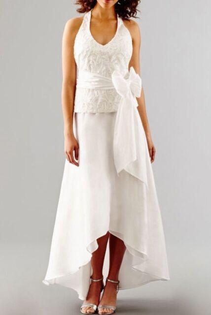 Blu Sage Sleeveless Embroidered High Low Halter Wedding Gown Dress Size 10 For Sale Online Ebay,Neon Green Wedding Dresses