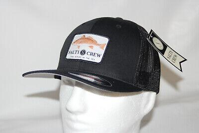 buy good san francisco shopping Salty Crew Spot Tail Retro Mesh Snapback Trucker Hat Cap in Black ...