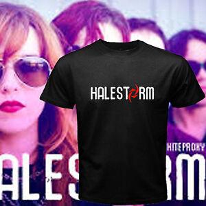 Halestorm Personels Metal Rock Band Logo Men/'s Black T-Shirt Size S to 3XL