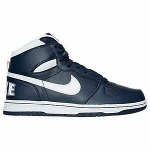 New Nike Men's Big Nike High Shoes (336608-410)  Midnight Navy/White