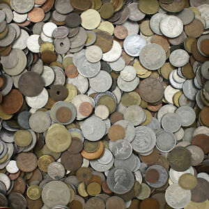 World-Coins-10-Pound-Lot-Foreign-Assortment-Some-Older-Dates