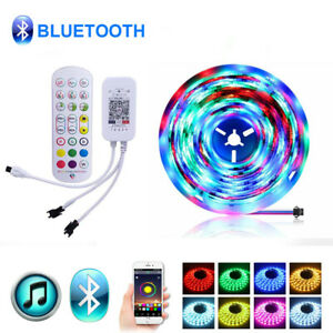 WS2811-LED-Strip-Lights-5050-RGB-IC-Individual-Addressable-Bluetooth-APP-Control