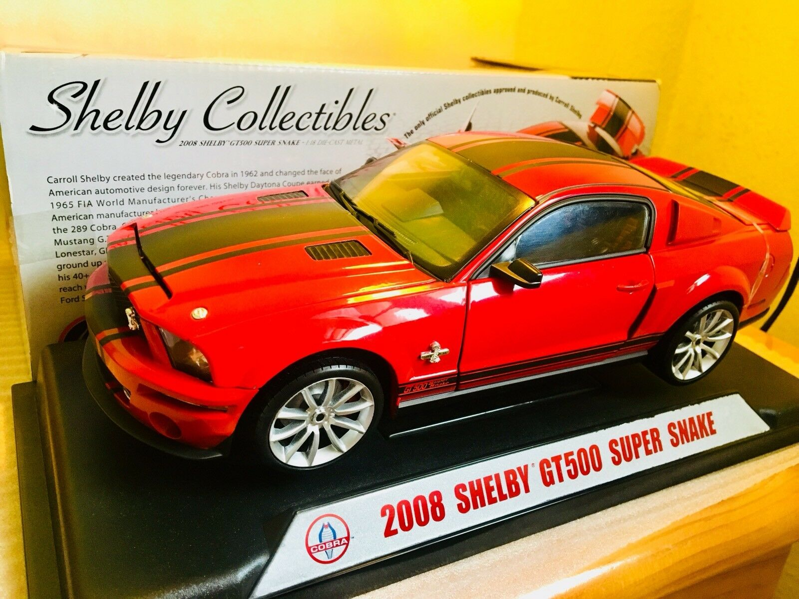 Shelby Shelby Shelby super snake gt500 2008 shelby collectibles 1,18 americano maqueta coche ebe3af