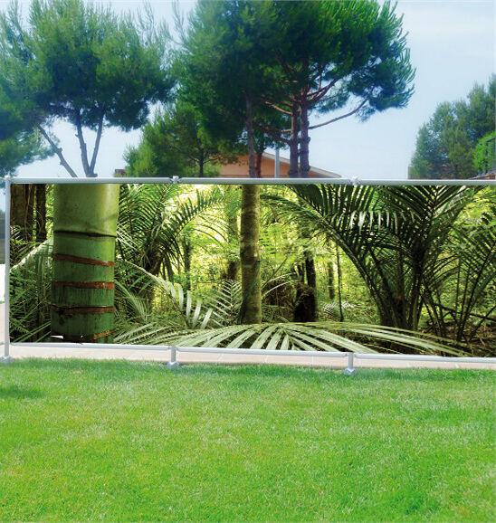 Brise vue déco imprimé  Bambous 3626