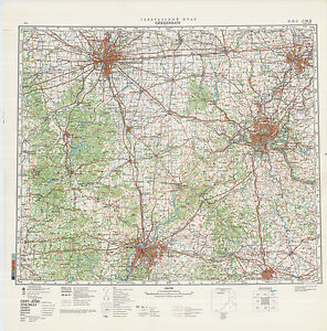 Russian Soviet Military Topographic Maps - state KENTUCKY (USA), 1 ...
