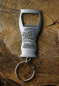 Samuel Adams Boston Lager Pewter Key Chain Bottle Opener Take Pride in Your Beer Kurkentrekkers, flesopeners