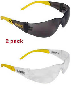 Dewalt-DPG54-2-1C-Protector-Smoke-Clear-High-Performance-Safety-GLASSES-2pack