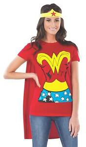 Rubie-039-s-Costume-DC-Comics-Wonder-Woman-T-Shirt-With-Cape-And-Headband-Red