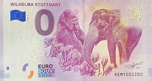BILLET-0-EURO-WILHELMA-STUGGART-ALLEMAGNE-2018-NUMERO-2200