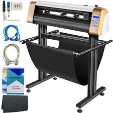 Vevor 28 Vinyl Cutterplotter Sign Cutting Machine Software 3 Blades Lcd Screen