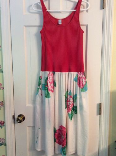 Clovis Ruffin Vintage Red Floral Dress