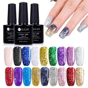 UR-SUGAR-7-5ml-Glitter-UV-Gel-Nail-Polish-Holographics-Star-Soak-Off-Gel-Varnish
