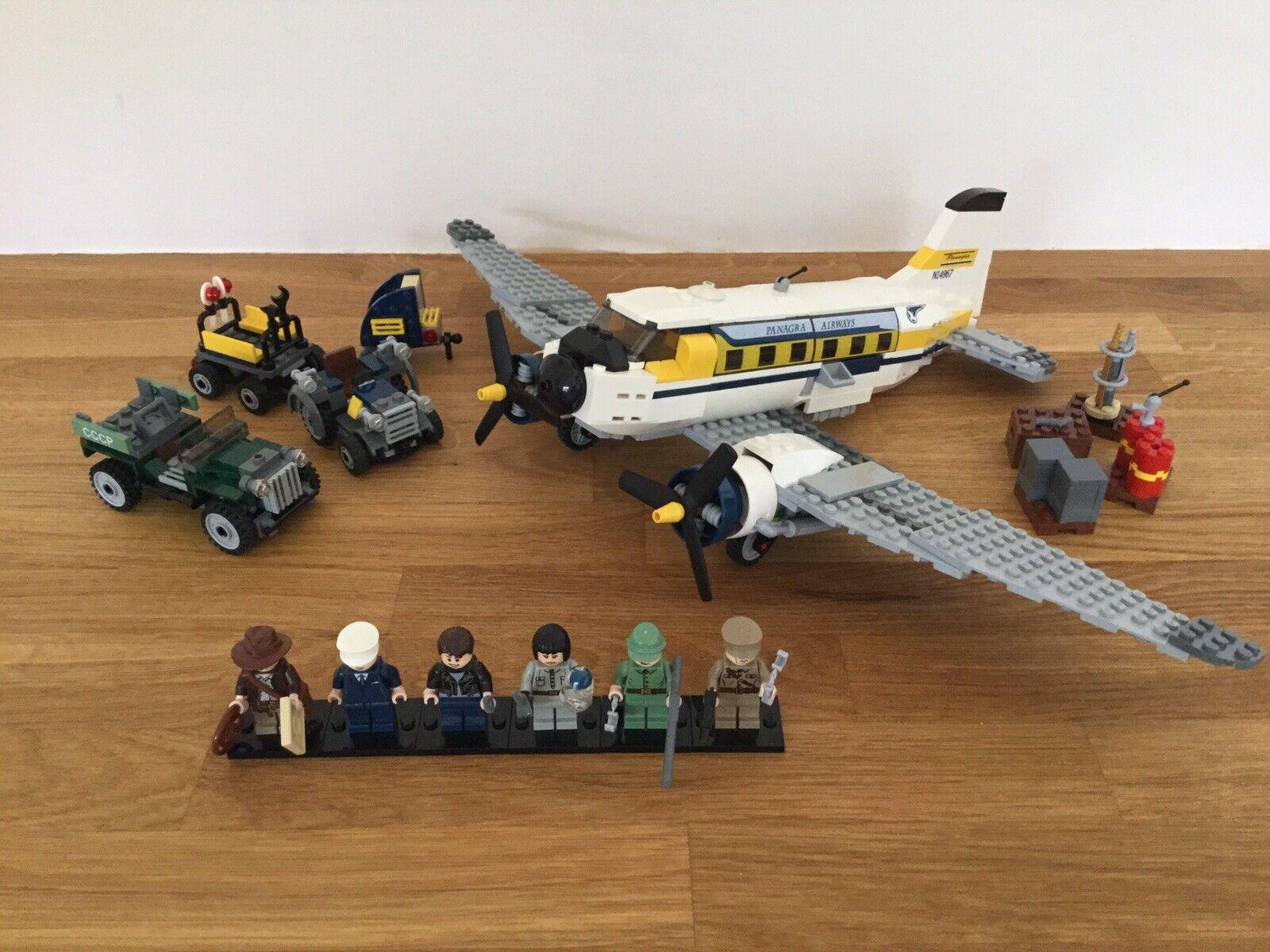Lego Indiana Jones 7628 Peril in Peru 100% Complete & Instructions Rare