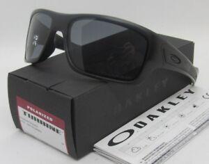 fcbb9f856d OAKLEY matte black grey POLARIZED TURBINE OO9263-07 63 sunglasses ...