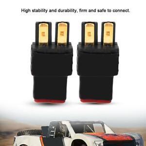 2-un-Hembra-a-Macho-Enchufe-Conector-Decanos-T-Adaptador-Set-Para-Bateria-De-Radio-Control-Traxxas