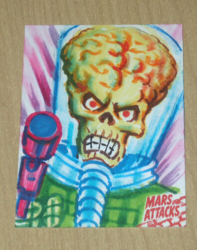 2015 Topps Mars Attacks Occupation Kickstarter sketch card 11 Jeff Zapata