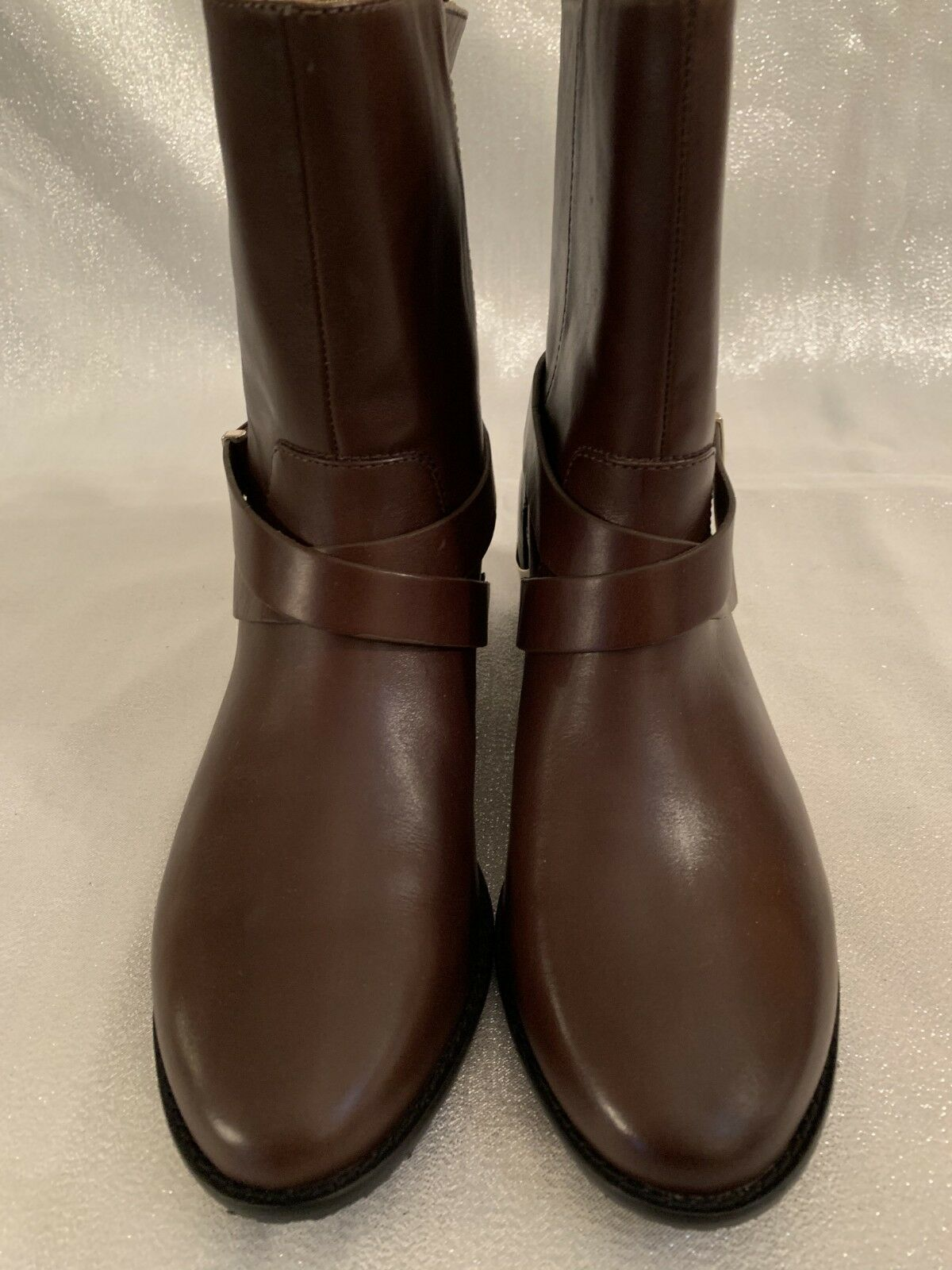 ELAINE TURNER WOMEN'S BROWN ANKLE BOOTS BOOTS BOOTS WITH METAL TRIM SIZE 6 76e2f7