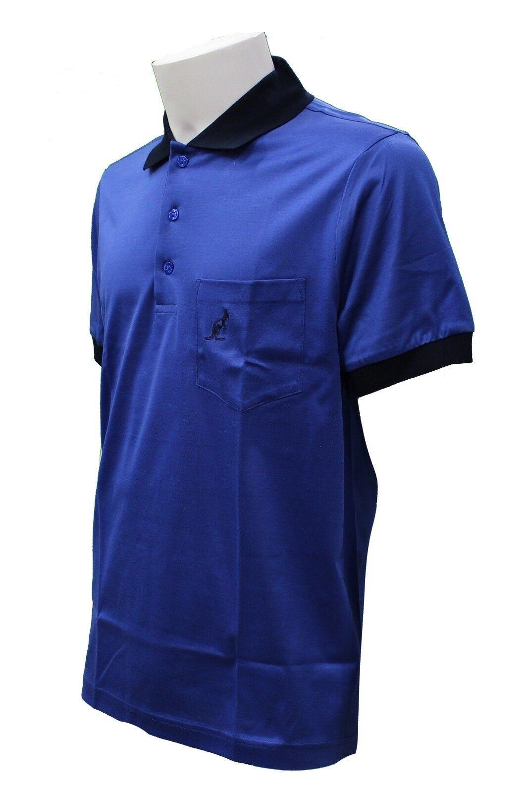 T-Shirt polo da uomo blu Australian manica casual corta colletto casual manica moda taschino 67d034