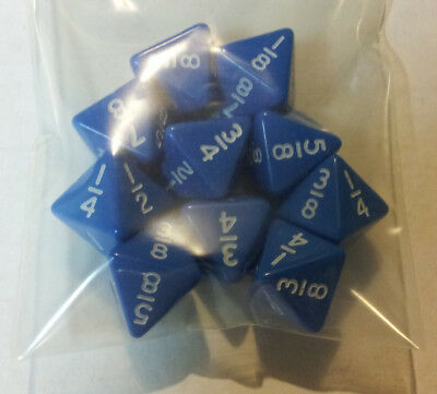 Blue Fraction  Dice with White Numbers for Math Teachers Classroom