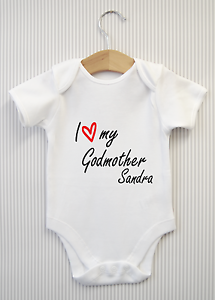 e6e6d2155 Image is loading Personalised-I-love-my-Godmother-Baby-Grow-Bodysuit-