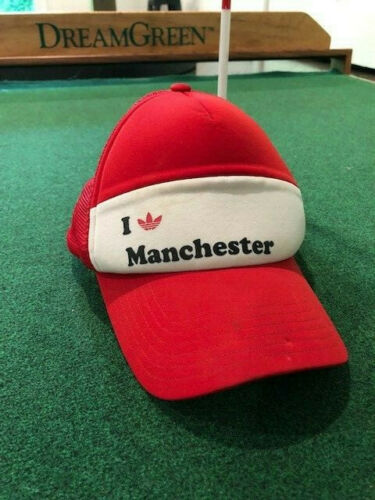 Manchester United Adidas Red White Hat Cap Snapbac