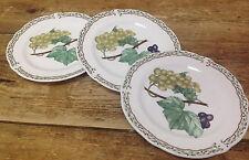 Noritake Royal Orchard Fruit 3 Bread Butter Plates Vines Primachina Green Grapes