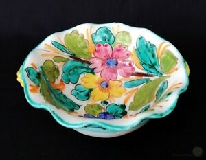 Vintage-Italian-Sgraffito-Pottery-Bowl-Provincial-Style-FREE-Delivery-UK