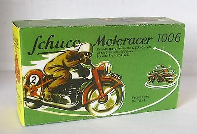 Unter Der Voraussetzung Repro Box Schuco Motoracer 1006 Gesundheit FöRdern Und Krankheiten Heilen Autos & Lkw Blechspielzeug