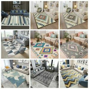 Simple-Living-Room-Carpet-Striped-Plaid-Pattern-Tea-Table-Fashion-Sofa-Carpet