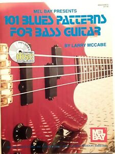 """ 101 Blues Patterns For Bass Guitar"", Par Larry Mccabe, Mel Bay Publication, Avec Cd-afficher Le Titre D'origine MatéRiau SéLectionné"
