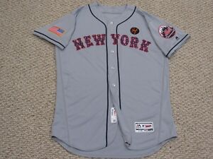 buy popular 362a9 4ab33 Details about Blank back size 48 2018 New York Mets road July 4th game  jersey MLB HOLOGRAM