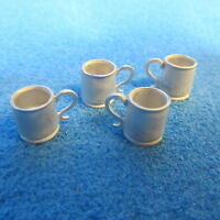 1/12 Scale Dolls House Metal Pack Of 4 Tankards Dh054c