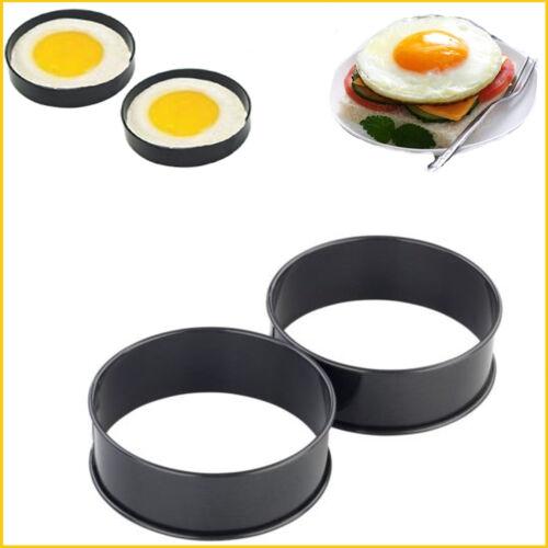 New Non-stick Egg Rings 2 x Poacher Eggs Mould Round Shape Fryer 25CM Poached
