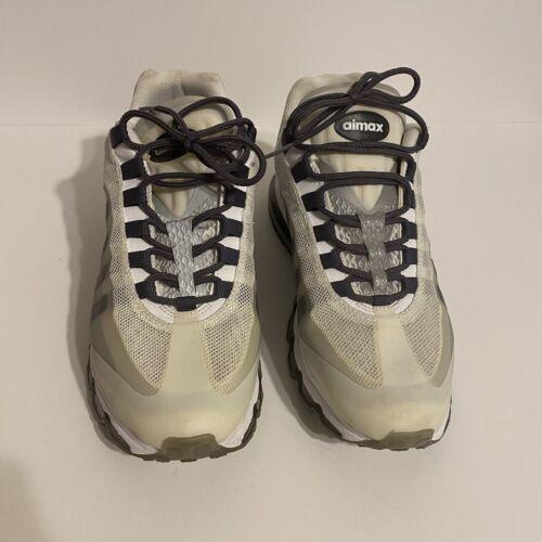 2012 Nike Air Max 95 Plus White Gray Mens US 10