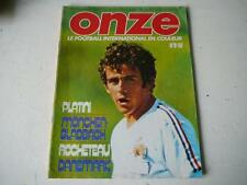 Onze 1976  n°8 Platini,Moenchengladbach Rocheteau,danemark