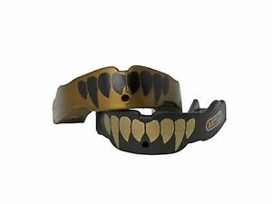 Battle Fang-Edition Mouth Guard (2-Pack) Gold/Black Adult (Age ... Free Shipping