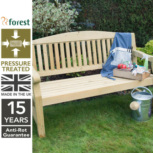 Forest 5ft Harvington Wooden Garden Bench Pressure Treated Timber