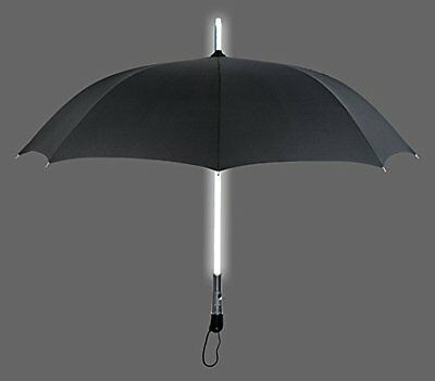 ZHOL® Umbrella with LED Flashlight Handle Black