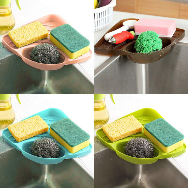 Portable Kitchen Sink Corner Storage Rack Sponge Holder Wall Mounted Tool Coffee For Sale Ebay