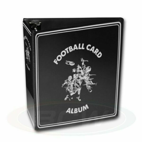1 One Black Binder BCW 3 Inch D Ring NFL Football Trading