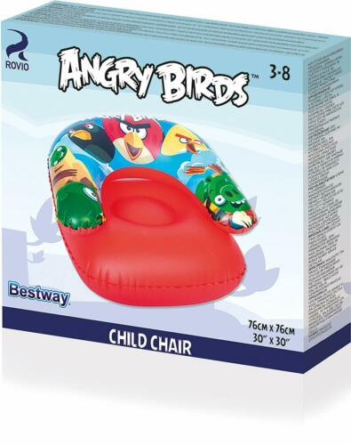 Bestway Angry Birds Childs Inflatable Chair Blow Up Seat For Swimming Pools