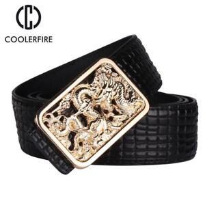 8b8fcaee6b2 Dragon Belt Men Luxury Famous Brand Waist Strap Male Leather Belts ...