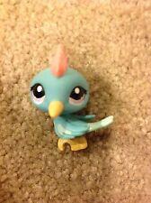 Littlest Pet Shop Pets Bird Woodpecker Blue Aqua Red Crest Purple Dot Eyes 1787