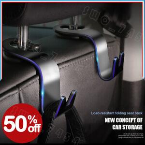 2PC-Universal-Car-Auto-Back-Seat-Hook-Hanger-Bag-Coat-Purse-Organizer-Holder