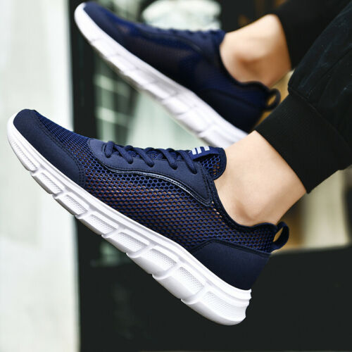 Big Size Mens Hollow Running Walking Sports Shoes Breathable Tennis Athletics B