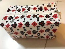 Anna Sui PVC white waterproof prints pouch case NEW GWP 2016